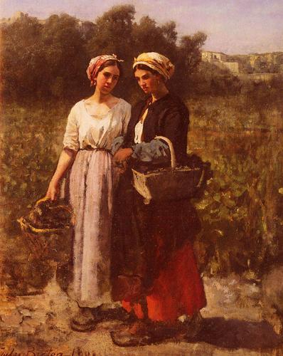 15.Jules-Breton-The-Grape-Harvest-at-the-Chateau-Lagrange