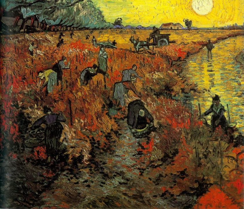 6.Red Vineyard by Vincent Van Gogh