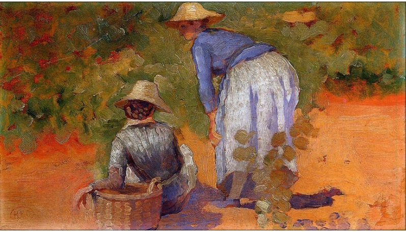 8.HENRI CROSS - STUDY FOR THE GRAPE PICKERS, 1892