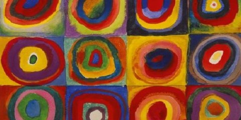 Color Study. Squares with Concentric Circles, Wassily Kandinsky
