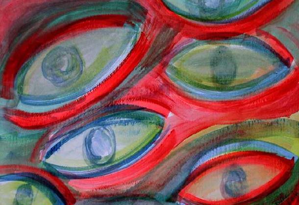 Πίνακας swimming eyes της Margie Byrne