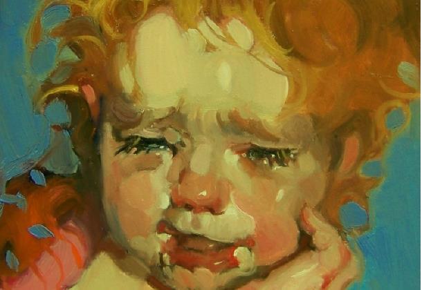 Από τον πίνακα Crying Eyes του Kim Roberti (λεπτομέρεια)