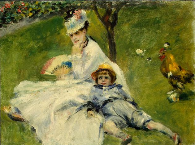 Madame Monet and_her_Son, Pierre Auguste Renoir