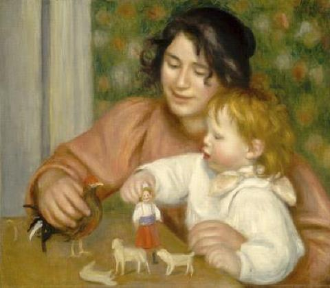 Child with Toys (Gabrielle and Jean) Auguste Renoir, 1896