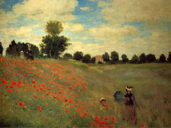 Field of Poppies, Argenteuil, Claude Monet, 1873