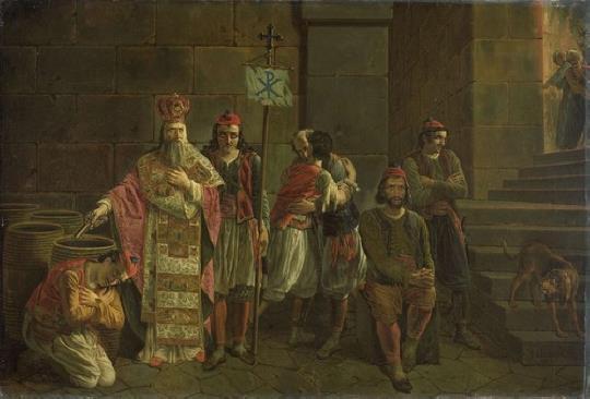 Joseph Denis Odevaere-The last defenders of Missolonghi (1826)