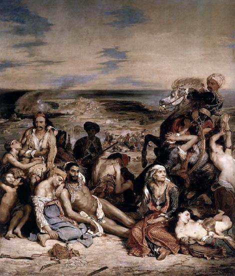 Eugène Delacroix- Le Massacre de Scio (Massacre at Chios), (1824)