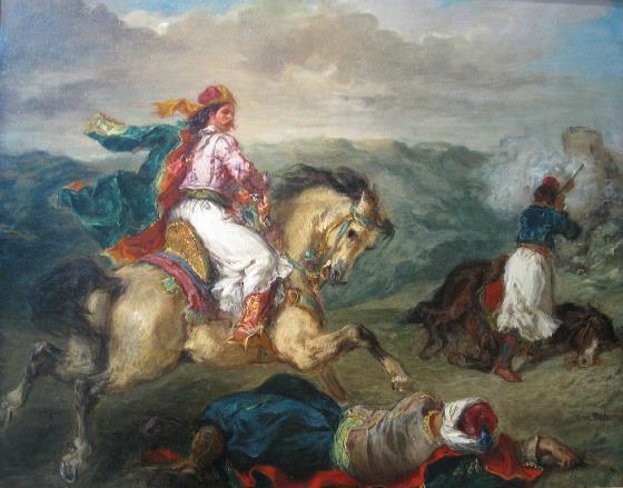 Eugene Delacroix-Mounted Greek Warriorv (1856)