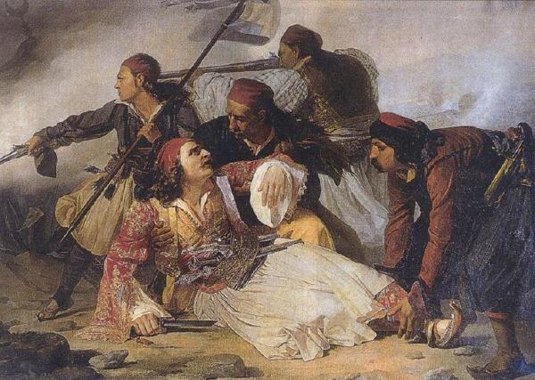 Ludovico Lipparini-Death of Markos Botsaris, 1823-1856