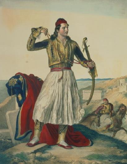Louis Dupre, πίνακας Demetrius Mavromichalis (1825)