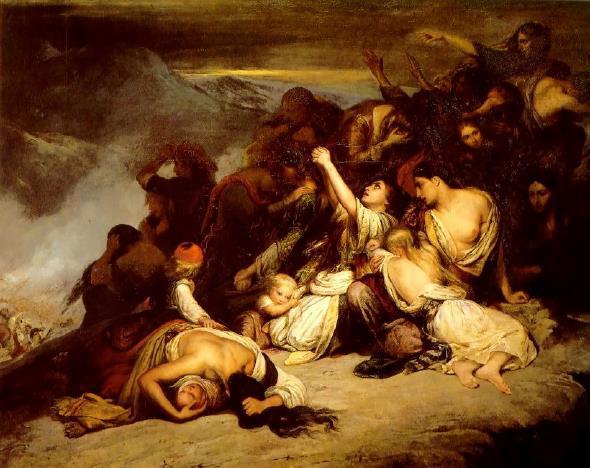 Ary Scheffer-The_Souliot Women (Les Femmes souliotes, 1827