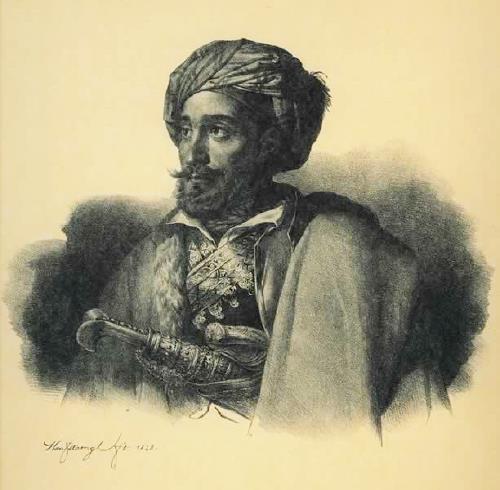 Μακρυγιάννης, λιθογραφία του Karl Krazeisen